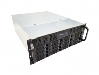 4U Short Length Server Case w/ 16 x 3.5